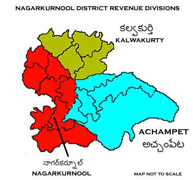 Nagarkurnool District Revenue divisions.png