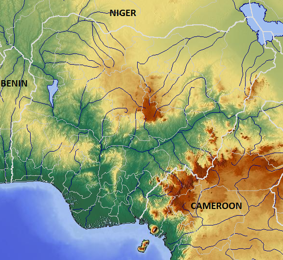 FileNigeria Relief Mappng Wikimedia Commons - Nigeria map