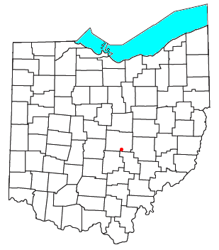 Location of Jacksontown, Ohio