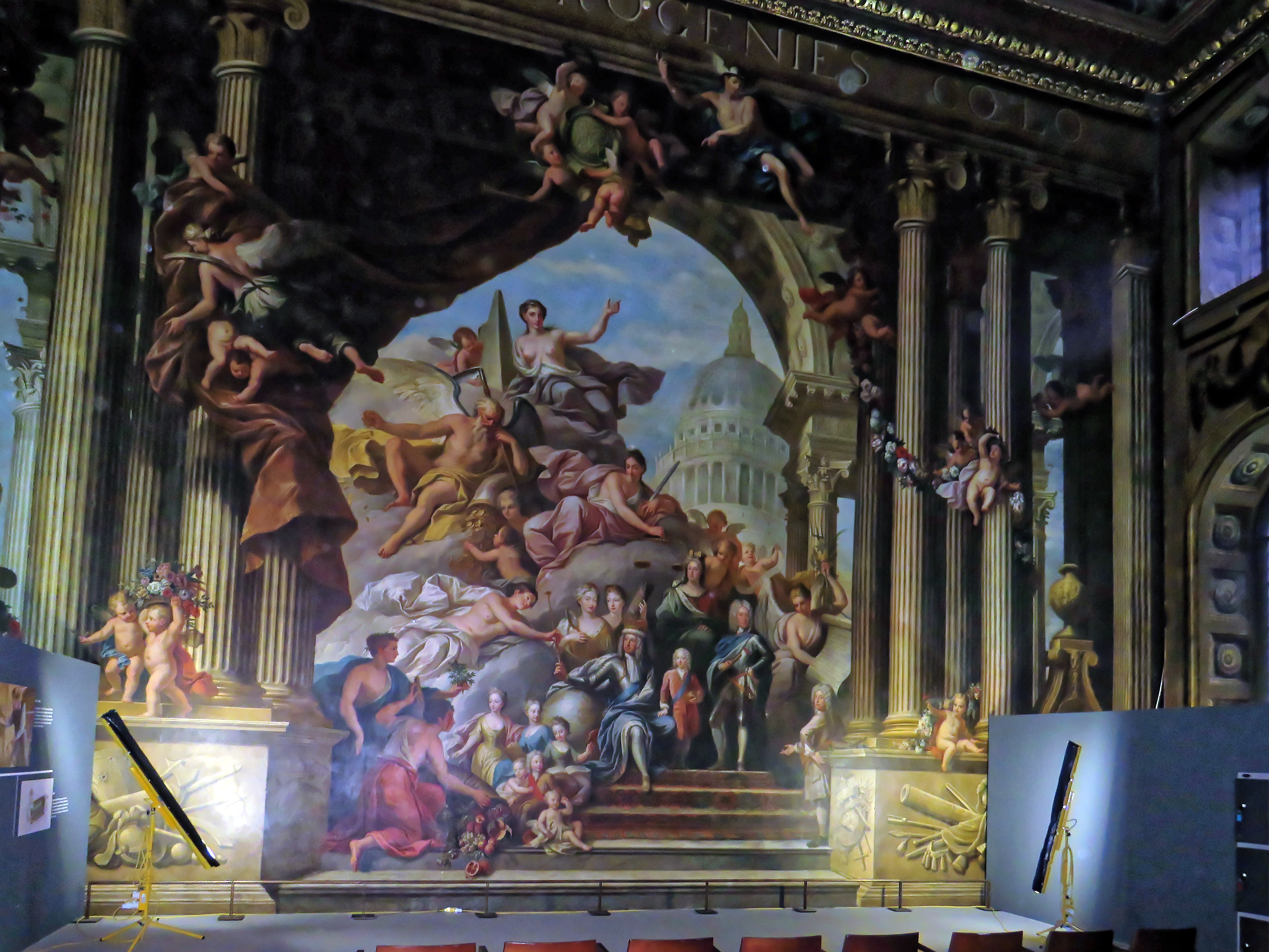 File:Painted Hall, Royal Naval College, Greenwich 02.jpg - Wikimedia Commons