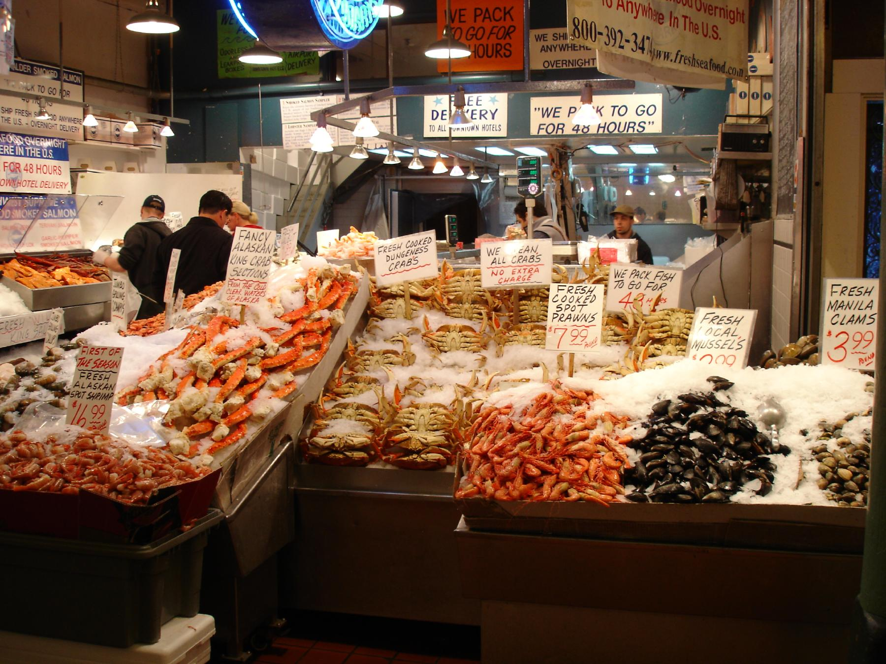 File pike place market wikimedia commons for The fish place