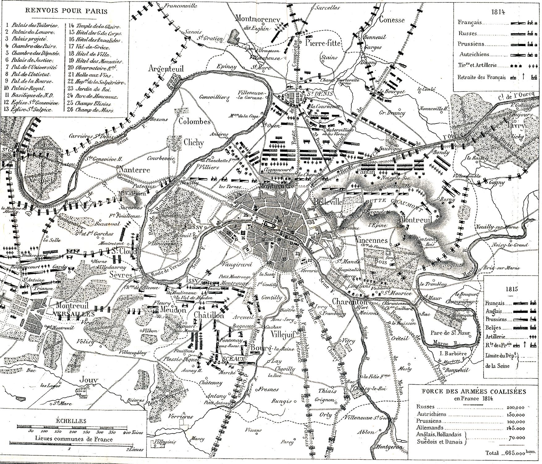 File Plan General Du Siege De Paris En 1814 1815 Jpg Wikimedia