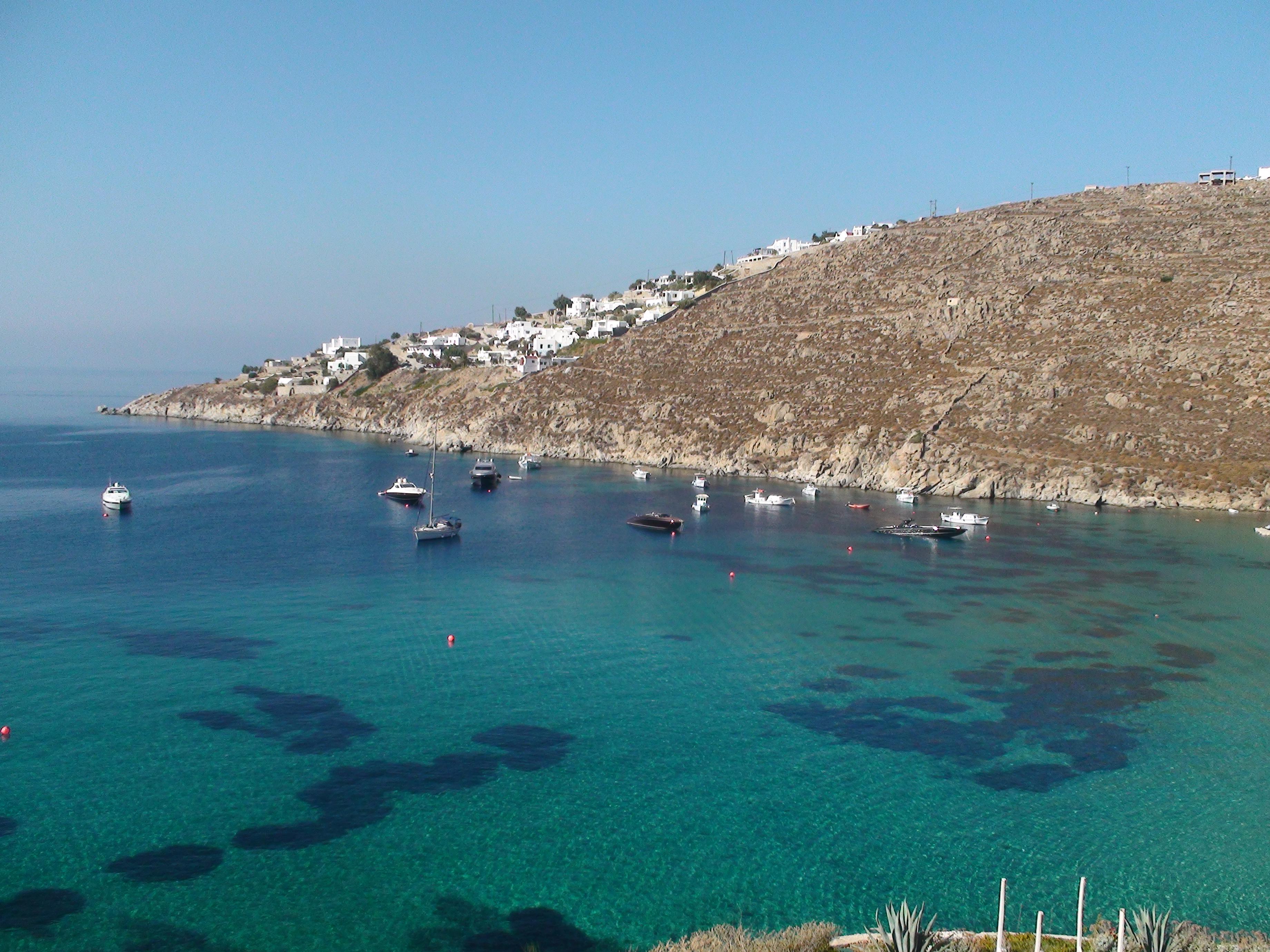 Platys Gialos in Mykonos one of the best beaches in Greece