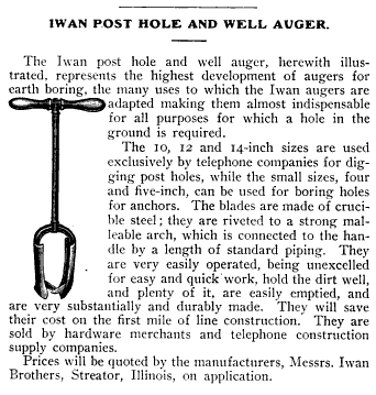 how to use a post hole auger