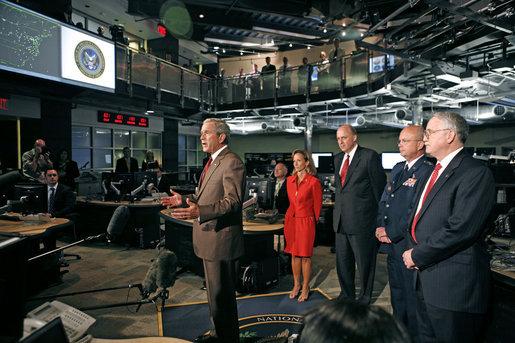 File President Bush Addresses The Media At The National
