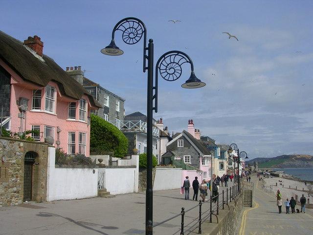 Promenade at Lyme Regis - geograph.org.uk - 239994