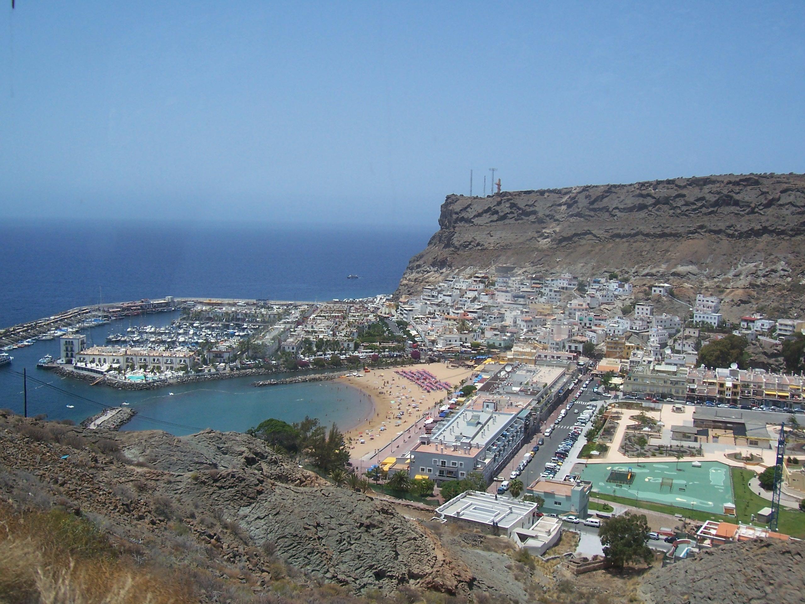 File puerto de mog n view gran wikimedia commons - Puerto mogan gran canaria ...