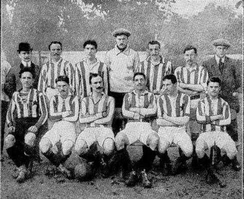 Het team van Red Star in 1910