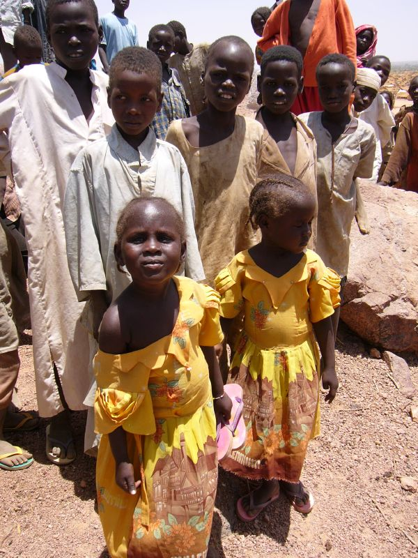 Sudanese children at a refugee camp in Chad.