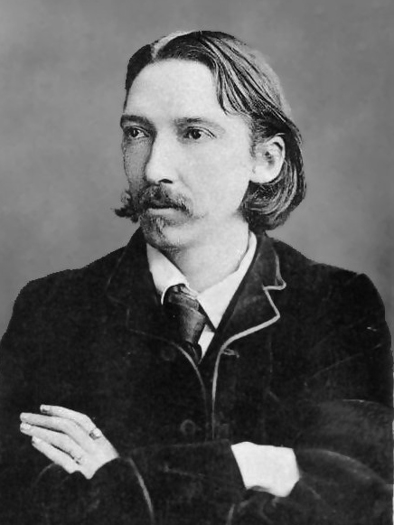 Photograph of Robert Louis Stevenson.