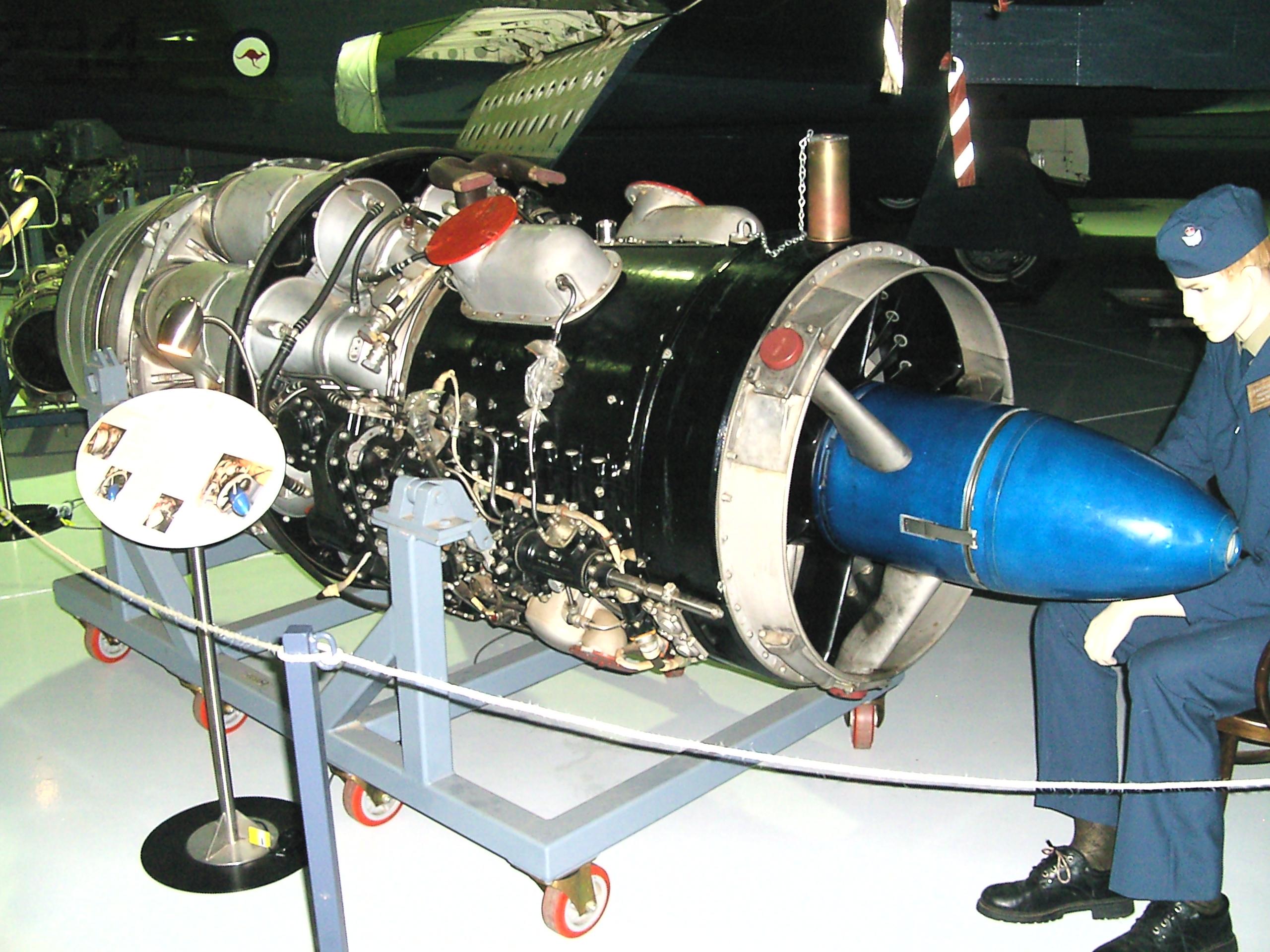 File Rolls Royce Avon jet engine Temora Wikimedia mons