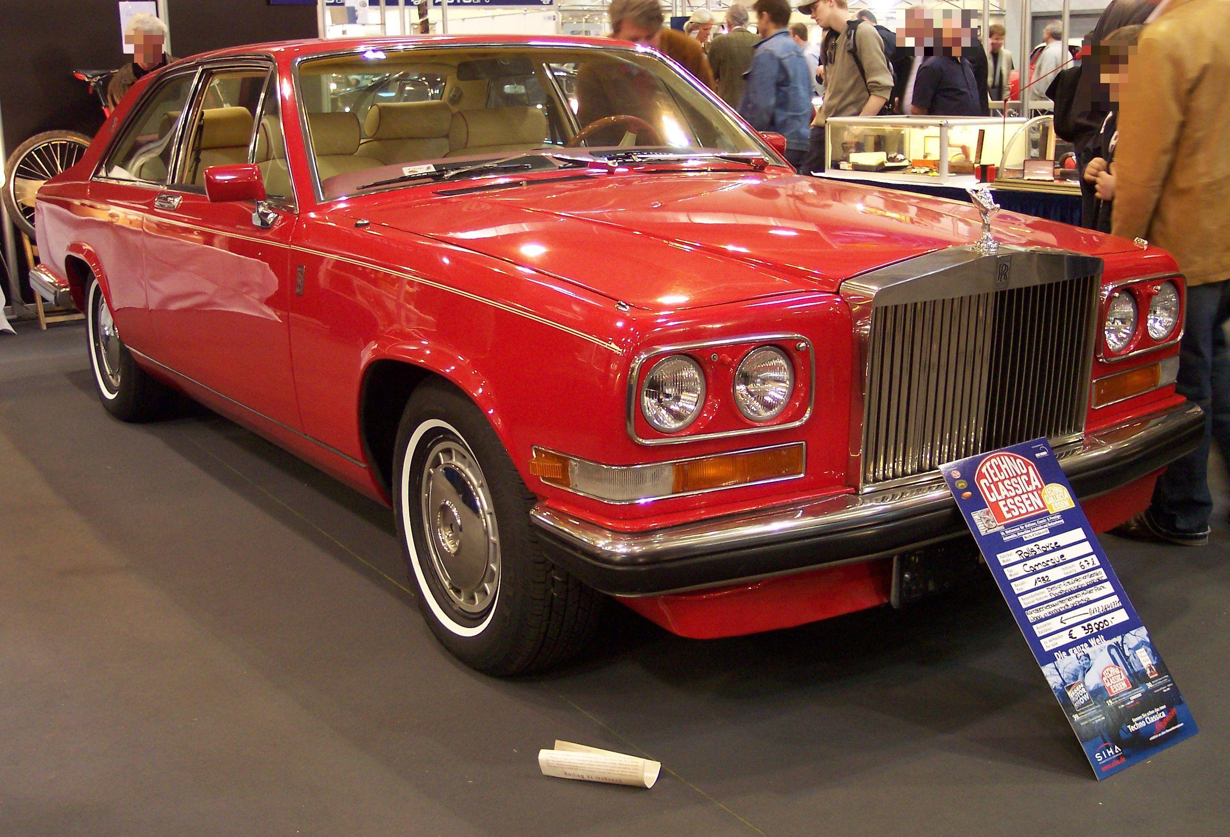 File Rolls Royce Camargue Vr Red 1982 Tce Jpg Wikimedia