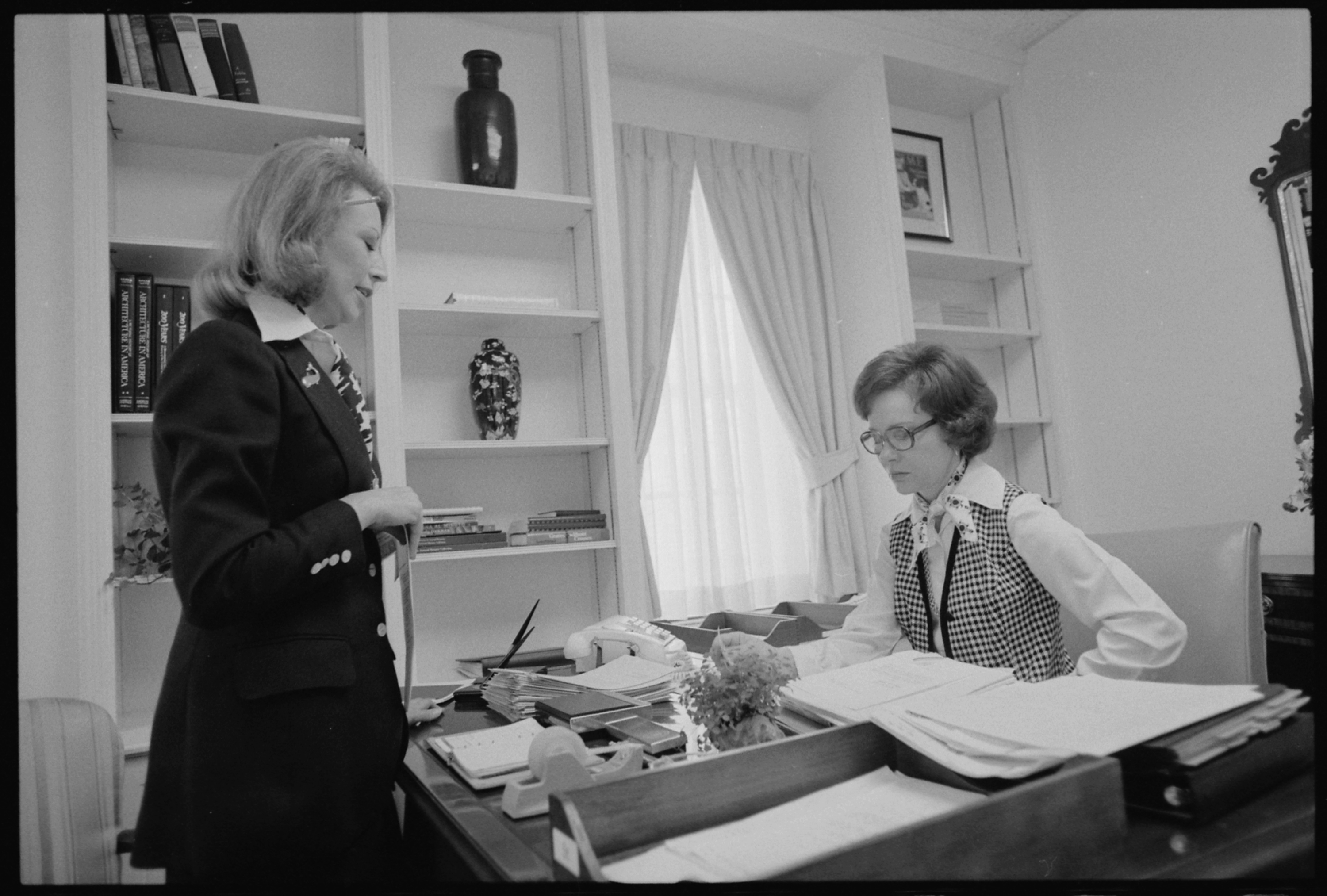 FileRosalynn Carter With Her Personal Assistant Madeline