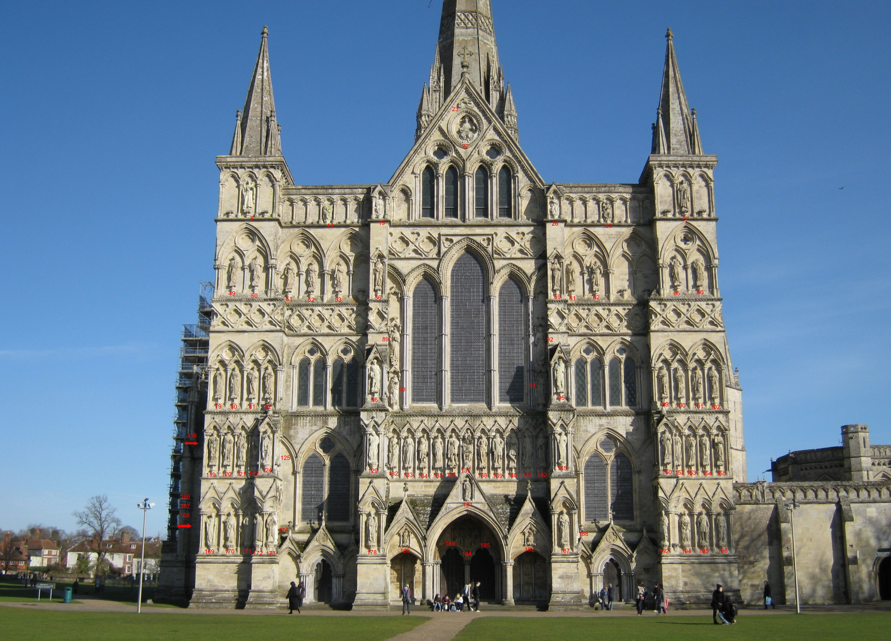 Anglican Church Floor Plan File Salisbury Cathedral West Front Niche Enumeration Jpg