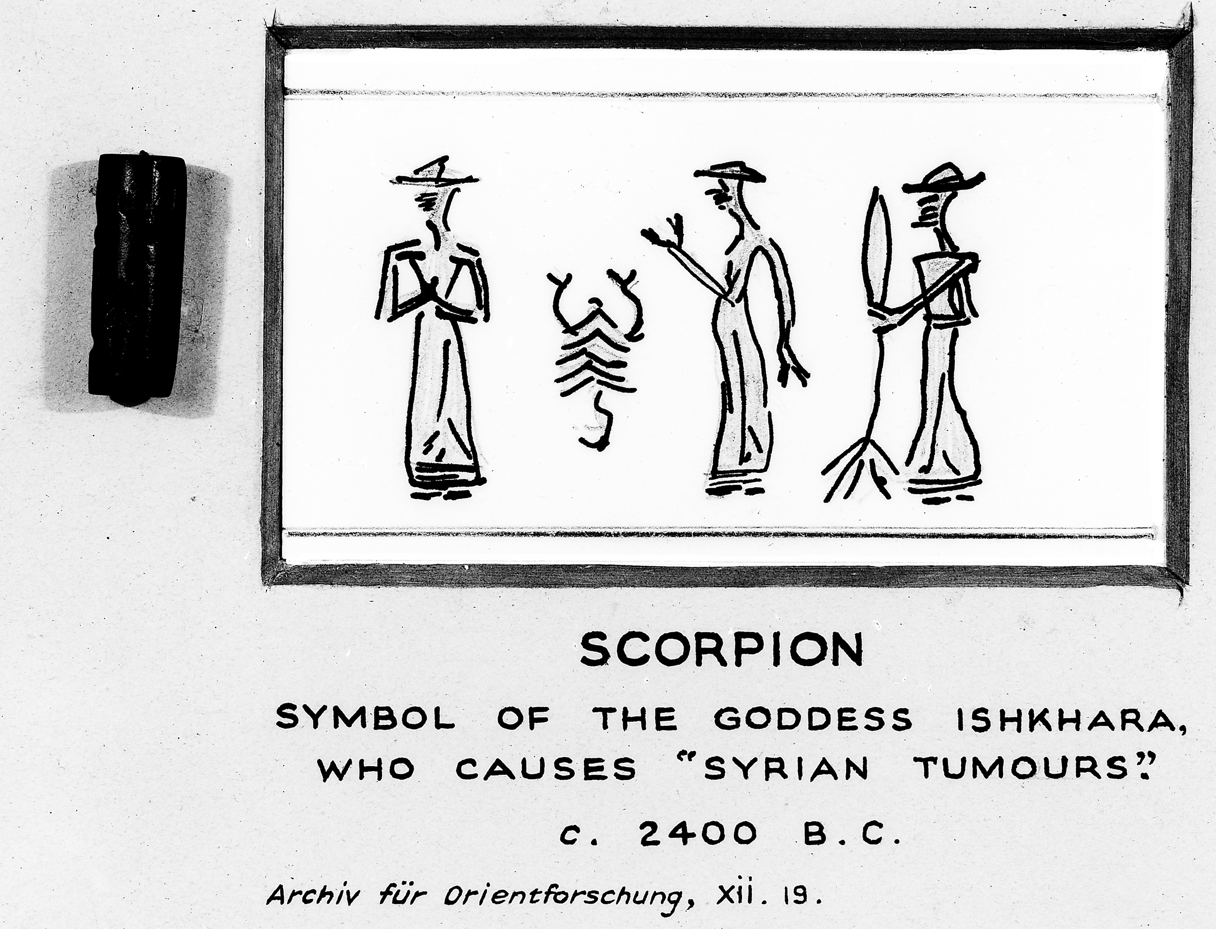 Filescorpion Symbol Of Goddess Ishkhara Circa 2400bc Wellcome