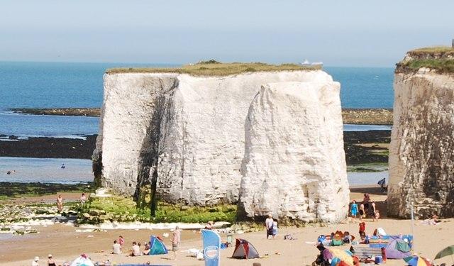 Sea stack, Botany Bay - geograph.org.uk - 1475550