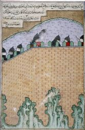 Sharaf al-Din Ali Yazdi. Timur Besieges the Georgian Castle of Gortin. Miniature manuscripts (15th century).jpg