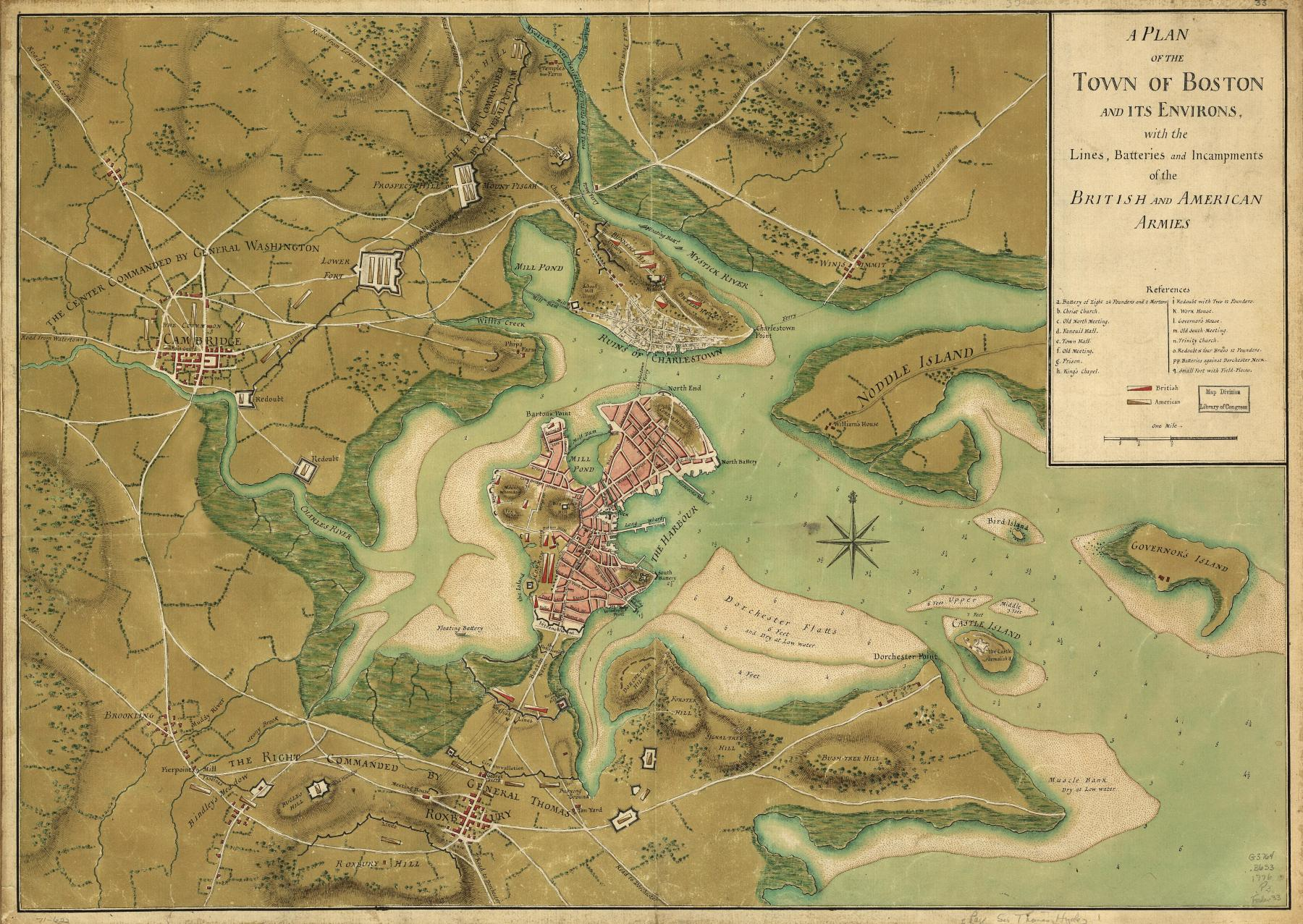 Battle Of Bunker Hill 1775 Map Viewing