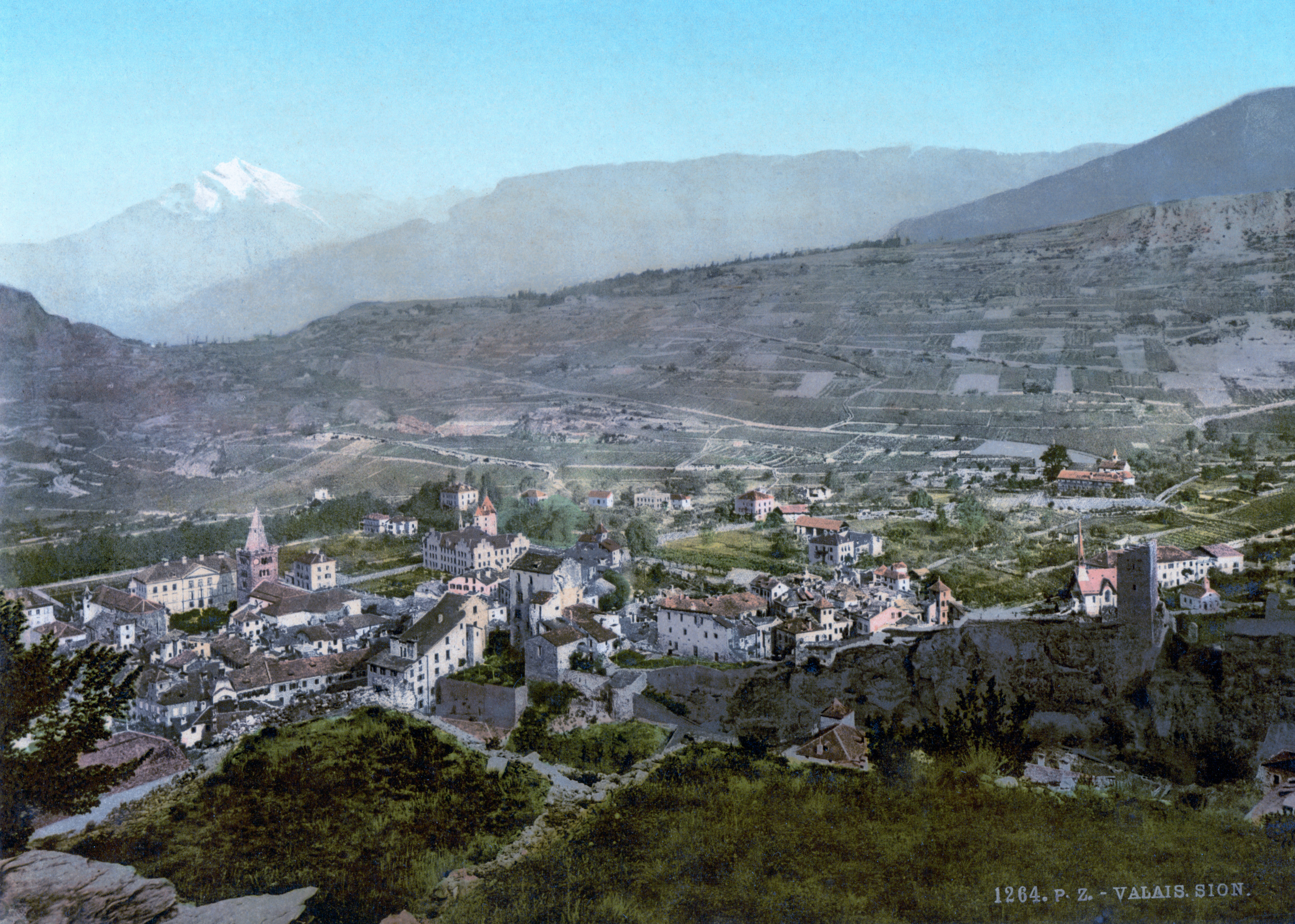 Sion Switzerland  city photos gallery : Sion, Valais, Switzerland, 1890s Wikimedia Commons