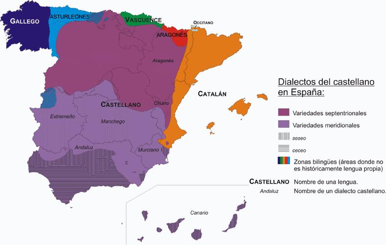 Dialectos De España Mapa.Dialectos Castellanos Meridionales Wikipedia La