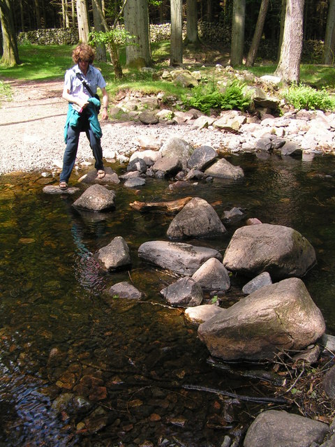 English: Stepping stones, Stanley Ghyll