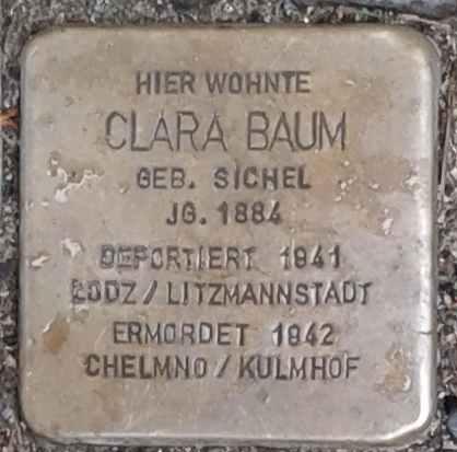 Stolperstein für Clara Baum