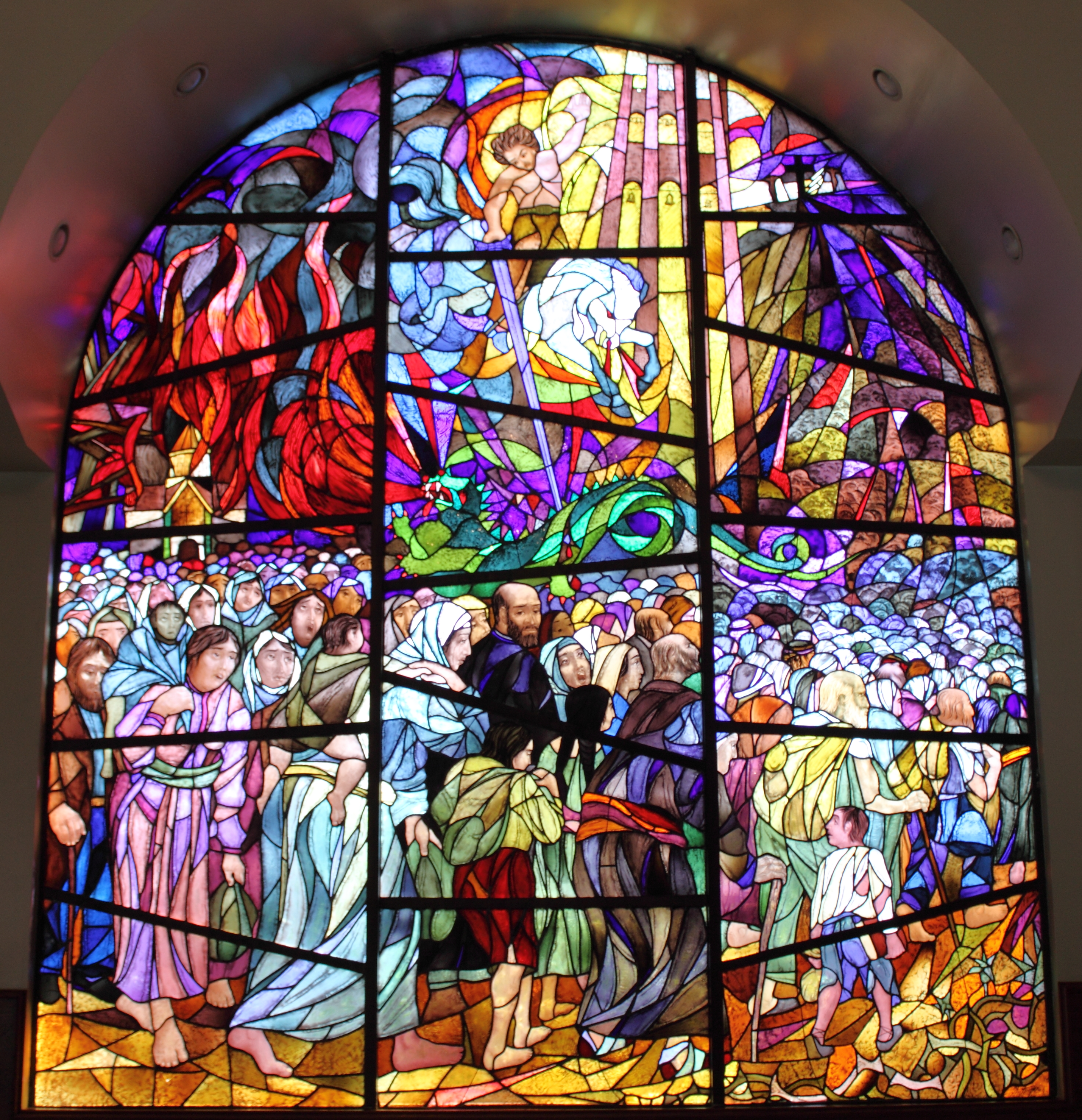 Wonderful Church Stained Glass #1: Surp_Garabed_Armenian_Church%2C_Hollywood_-_stained_glass_3.JPG