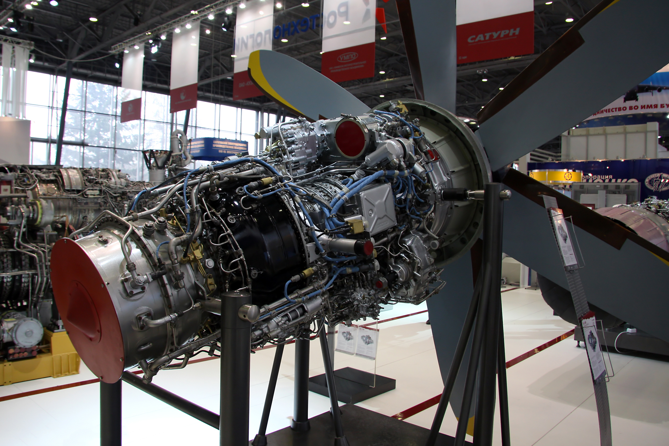 The first prototype of the Il-112V aircraft under construction has received engines 8