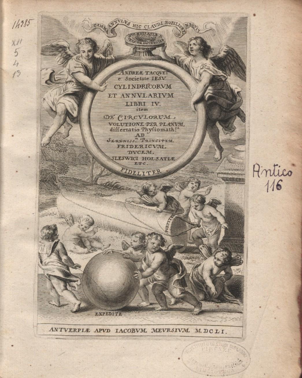 ''Cylindricorum et annularium libri'', 1651