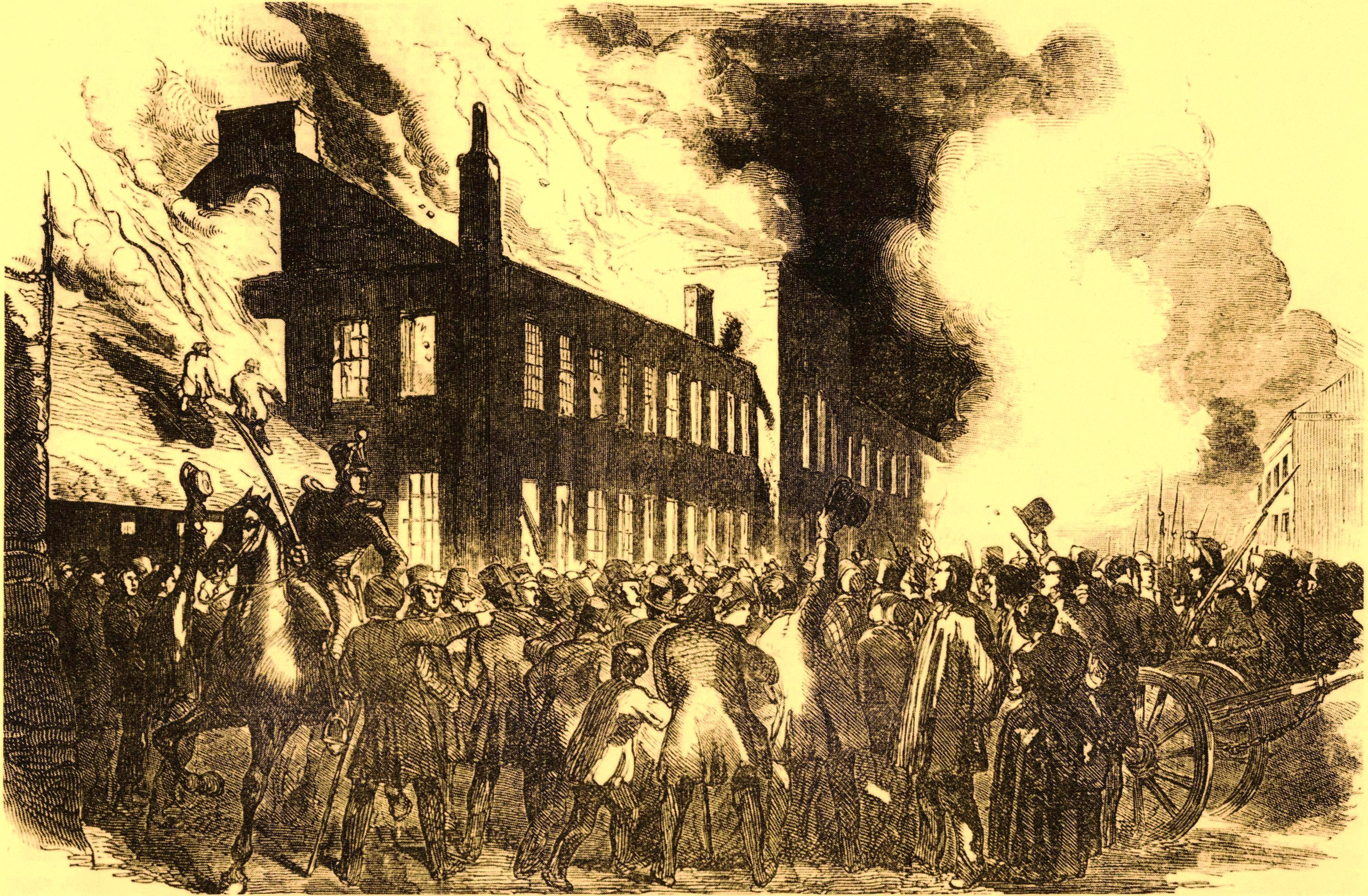 File:The Burning of the House of Assembly at Montreal 25 April 1849.jpg