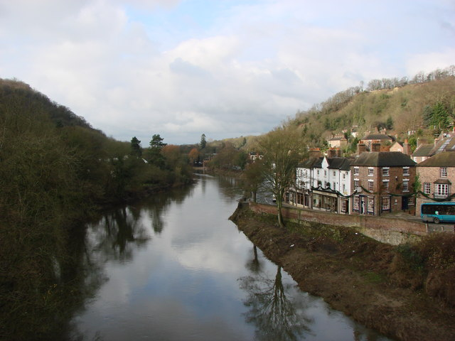 File:The River Severn, Looking West from The Iron Bridge - geograph.org.uk - 1629201.jpg