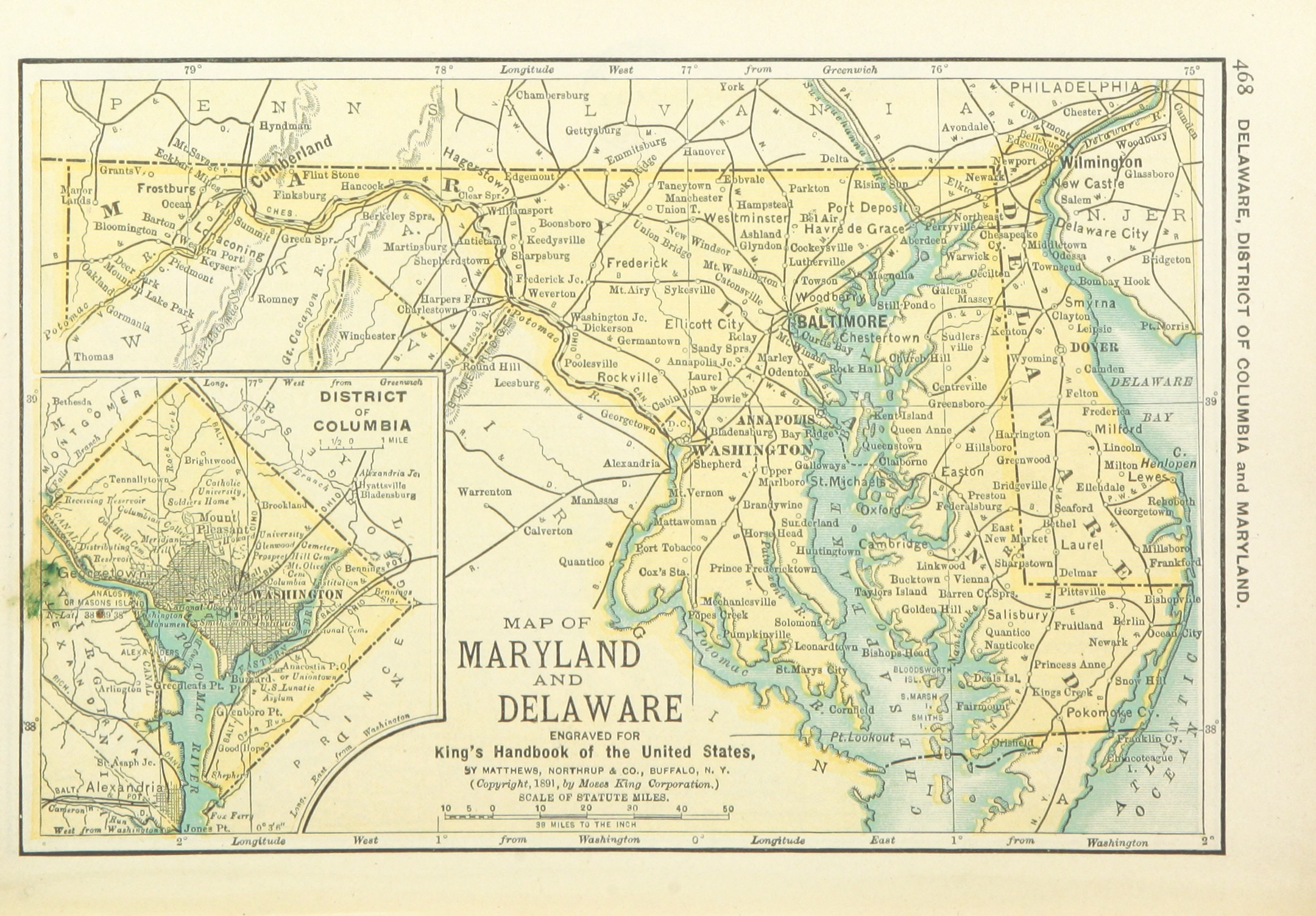 FileUSMAPS P MAP OF MARYLAND DELAWARE AND DISTRICT - Us map district of columbia