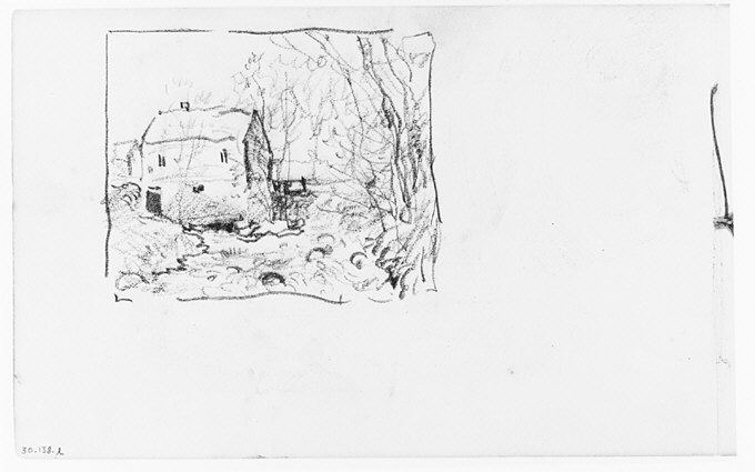 File:View of House by Waterfall and Stream (from Sketchbook) MET 263379.jpg