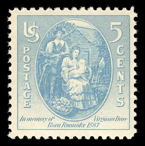 Tiedosto:Virginia dare stamp.JPG