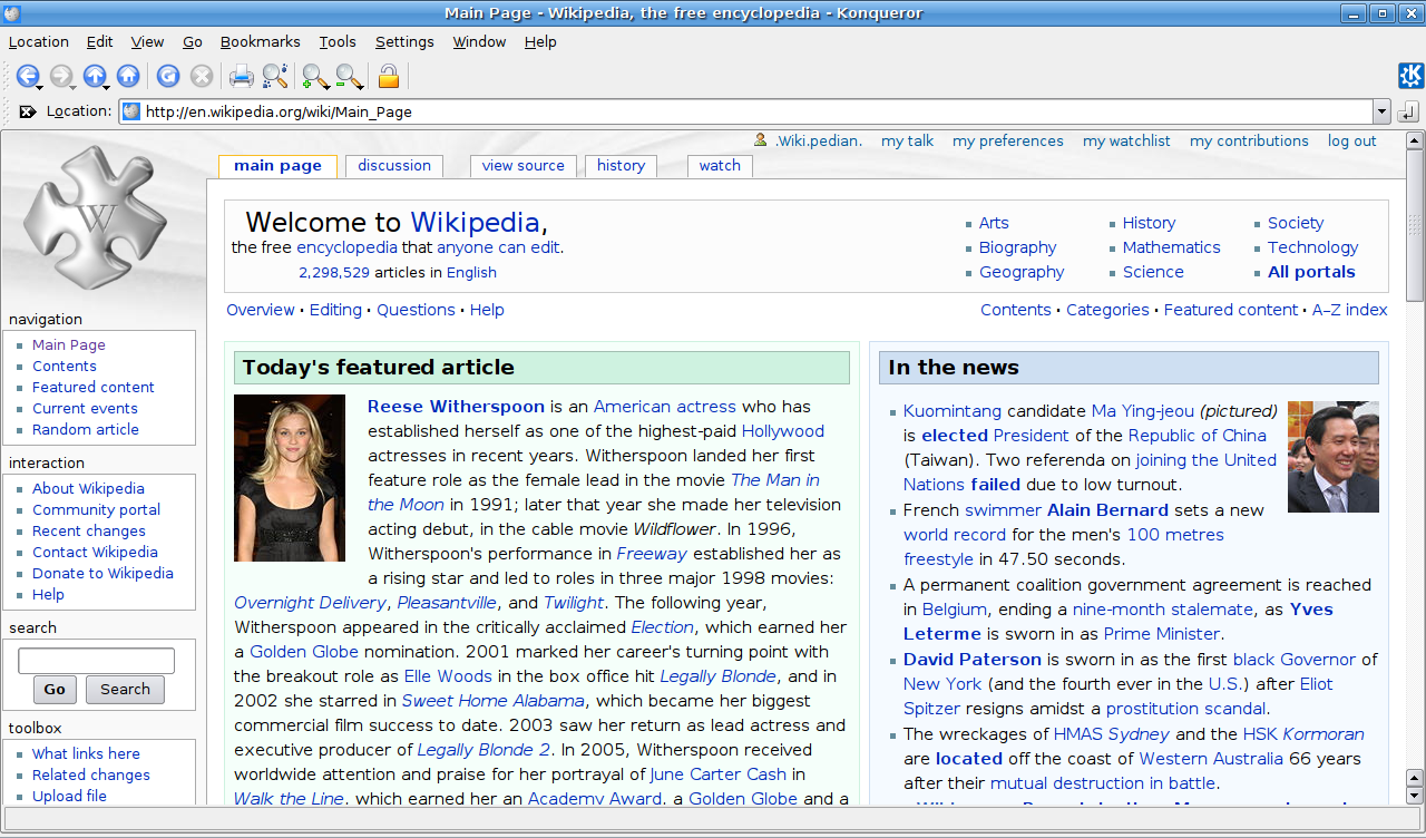 File:Wikipedia Main Page In Konqueror 3.5.8.png