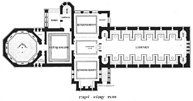 File winn memorial library woburn ma first story plan for Richardson homes floor plans