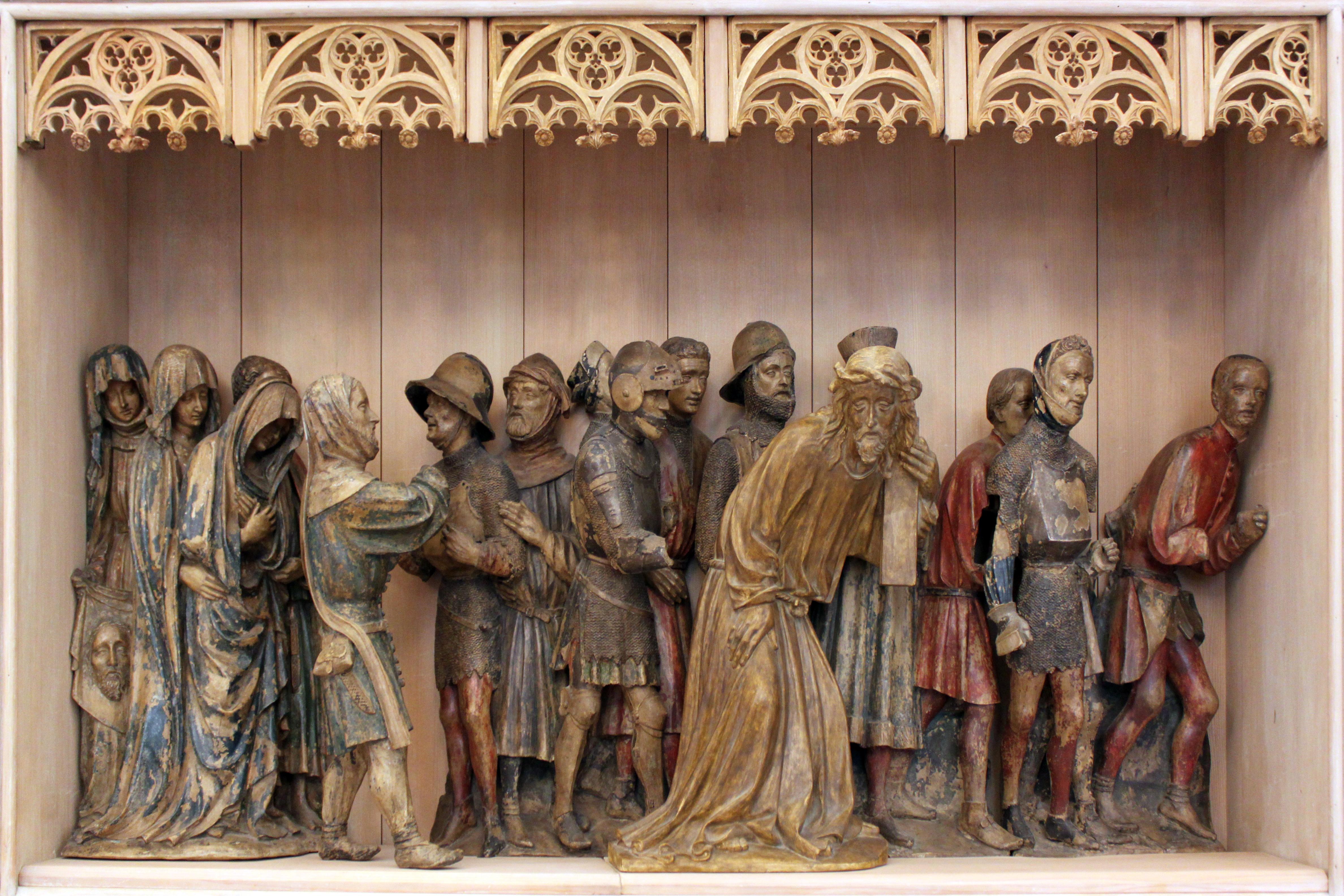 File:1425 Kreuztragung Christi aus Lorch am Rhein Bodemuseum anagoria.JPG
