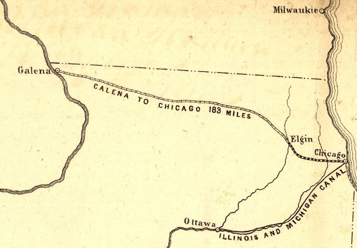 Galena And Chicago Union Railroad Wikipedia - Chicago map union station