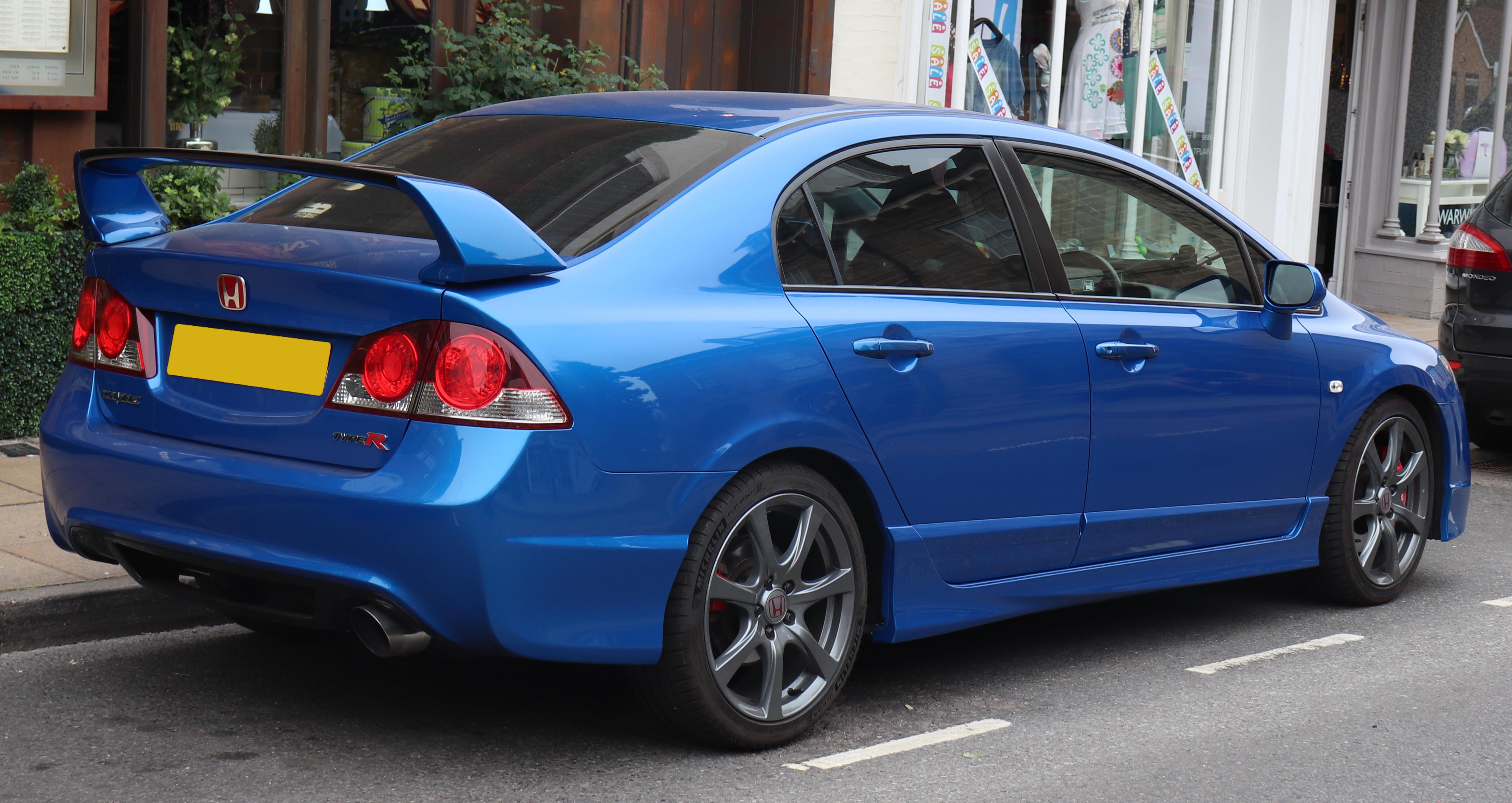 File:2008 Honda Civic Type-R 2.0 Rear.jpg - Wikimedia Commons
