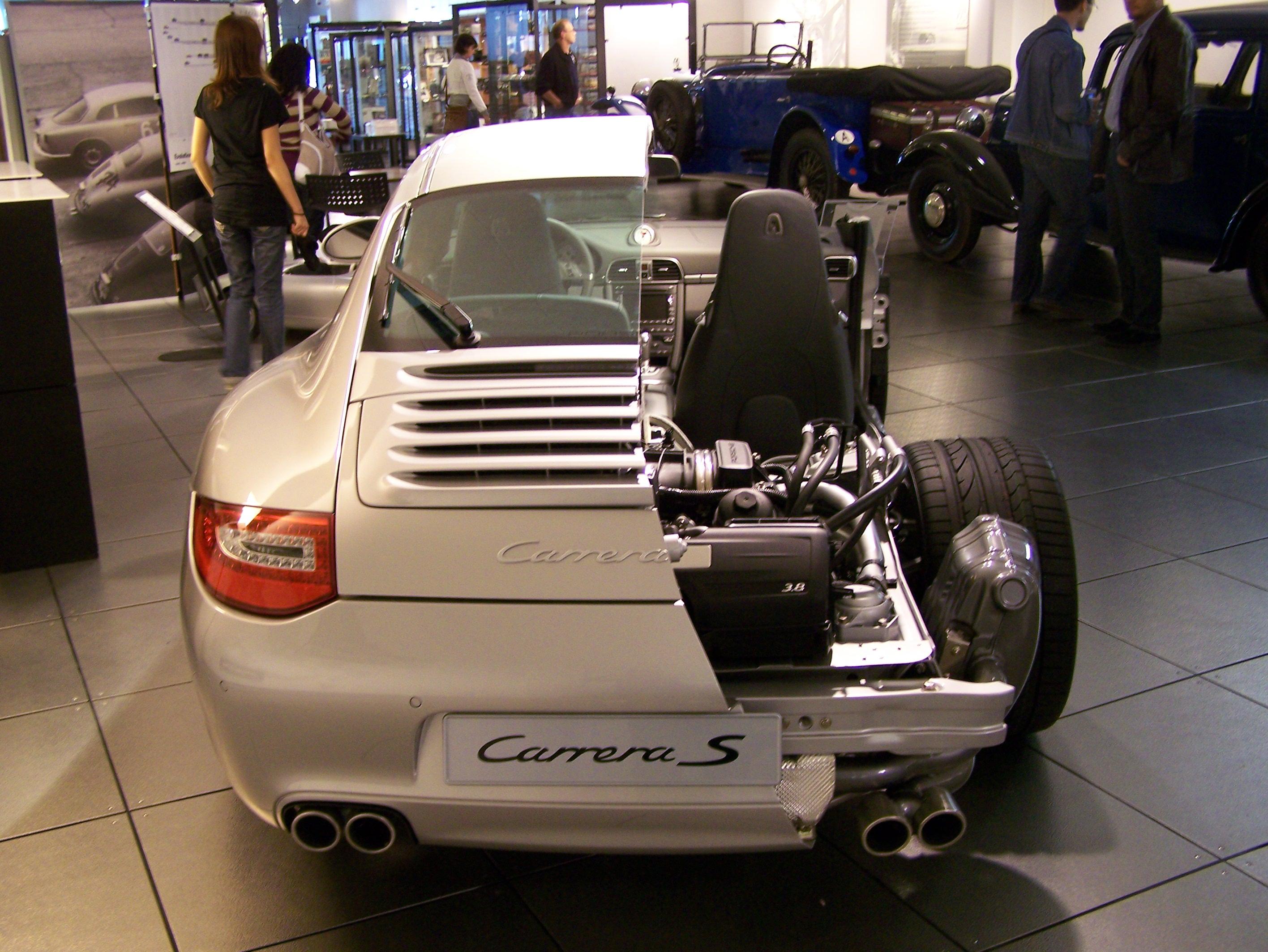 File 2008 Porsche 997 Carrera S Cutaway Jpg Wikimedia