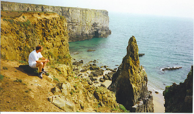 A stack on Stackpole Head. - geograph.org.uk - 113114