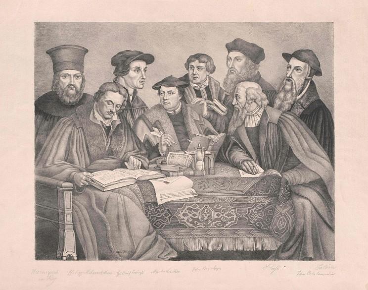 Acht reformatoren bock hieronymus buchenhagen johann calvin johann hus johannes luther martin melanchthon philipp