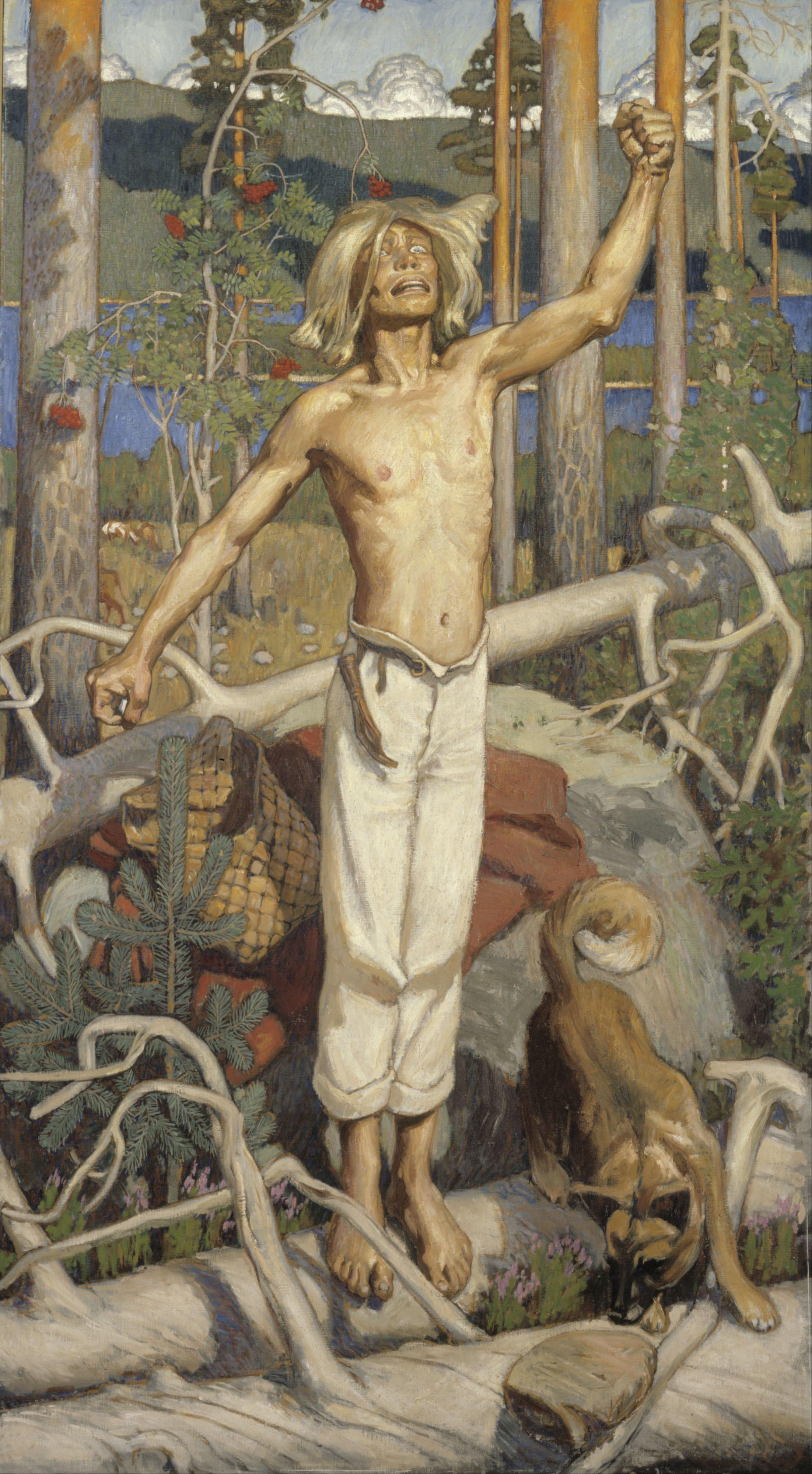 Akseli Gallen-Kallela (1865 – 1931) Akseli_Gallen-Kallela_-_Kullervo_Cursing_-_Google_Art_Project