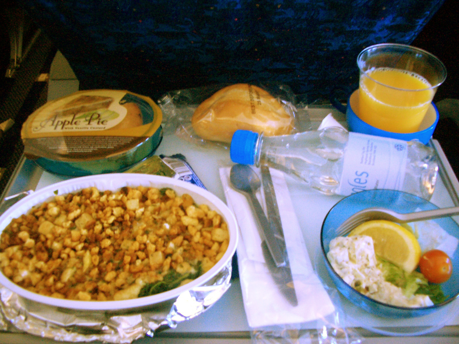 British Airways Inflight Food Menu