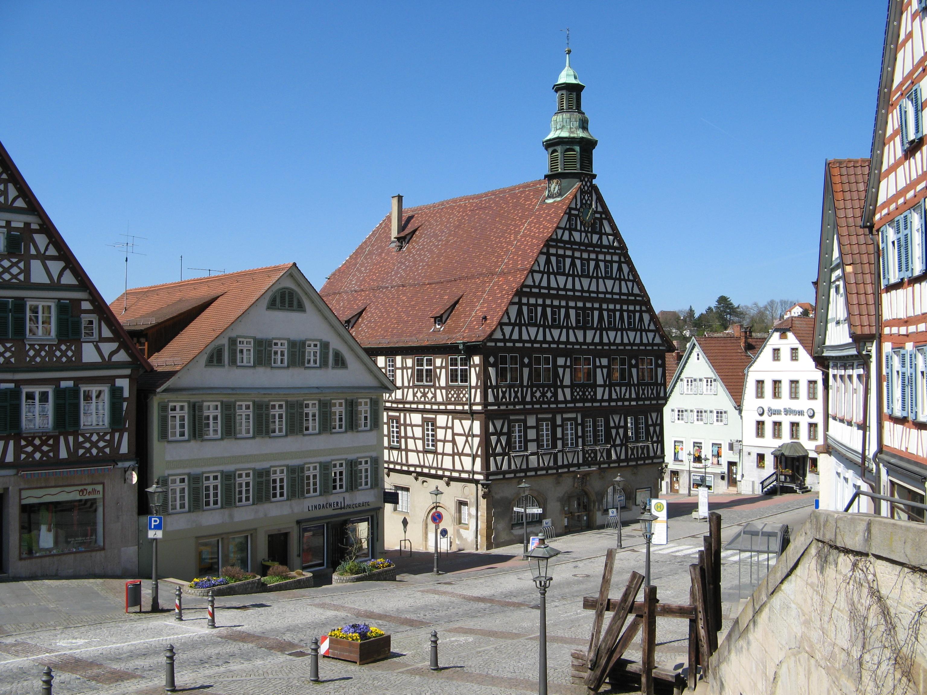 Backnang Germany  city pictures gallery : Description Backnang Marktstrasse