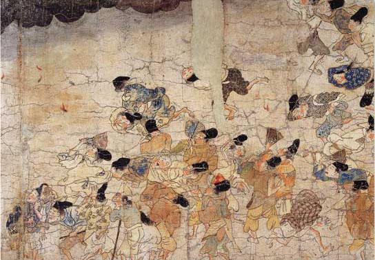 File:Ban Dainagon Ekotoba - Fire and people C.jpg