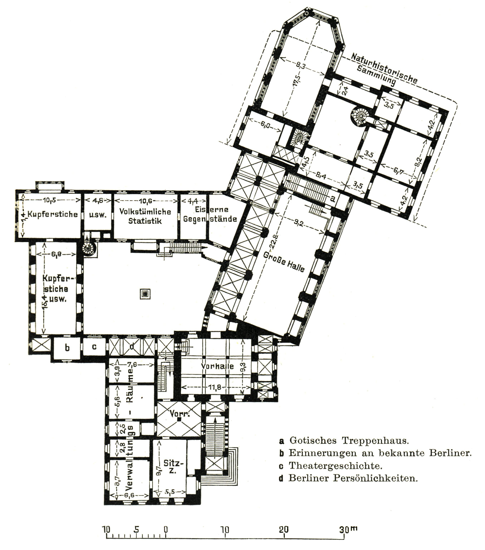 Treppenhaus Grundriss file berlin maerkisches museum grundriss erstes obergeschoss jpg