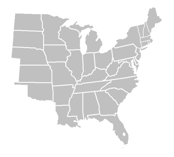 blankmap usa states east png