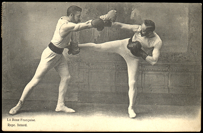 XIXth century picture of boxe française