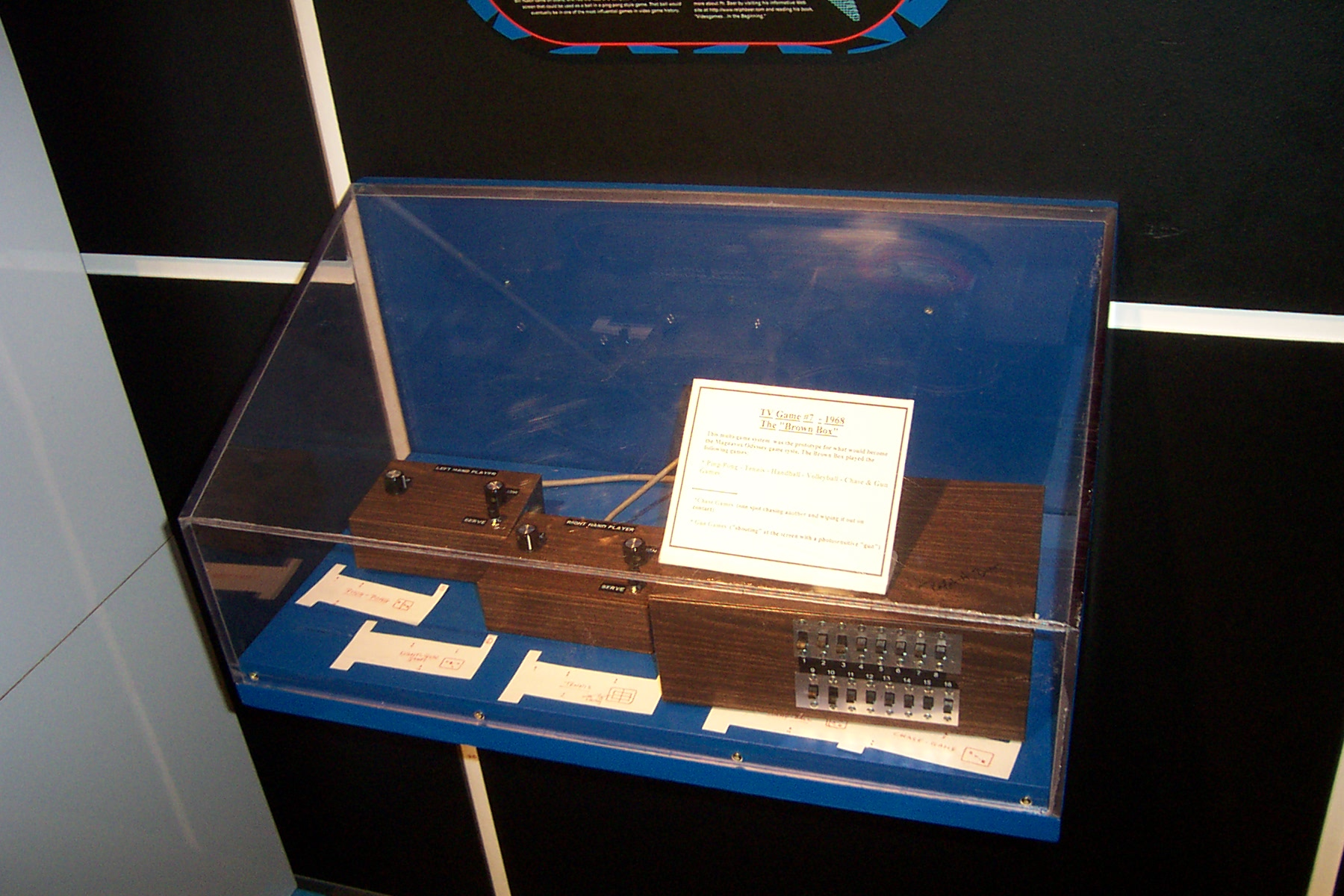 Prototype on display in the smithsonian museum of the magnavox odyssey known as the Brown Box